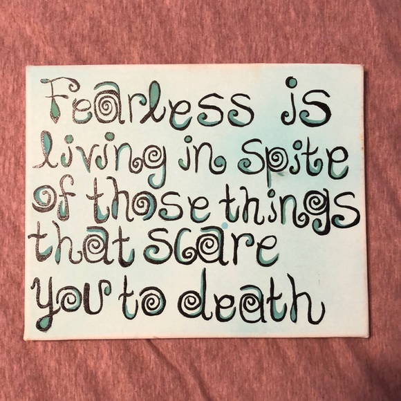 Taylor Swift Other Hand Painted Fearless Canvas Poshmark